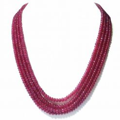 Jewelfort.com Natural Ruby Beaded Neckalce Jewelfort