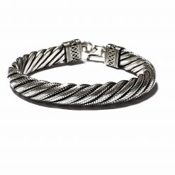 Sterling Silver Silver  Parallel Bracelet Animal Bracelet Silver Women Bangle Pack Of 1 Bracelet Ideal for Men - Jewelfort