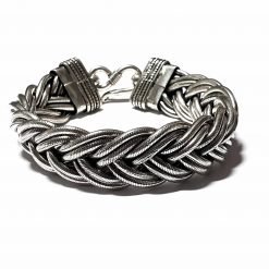 Sterling Silver Silver  Woven Bracelet Symmetry Bracelet Silver Women Bangle Pack Of 1 Bracelet Ideal for Women - Jewelfort