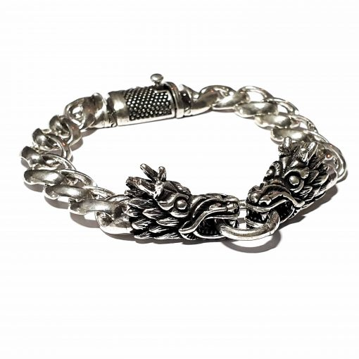 Sterling Silver Silver  Dragon Bracelet Ancient Bracelet Silver Women Bangle Pack Of 1 Bracelet Ideal for Men - Jewelfort