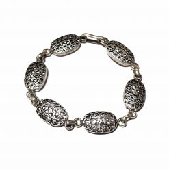 Sterling Silver Silver  Floral Bracelet Floral Bracelet Silver Women Bangle Pack Of 1 Bracelet Ideal for Women - Jewelfort