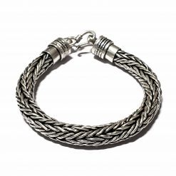 Sterling Silver Silver  Rope Bracelet Symmetry Bracelet Silver Women Bangle Pack Of 1 Bracelet Ideal for Men - Jewelfort
