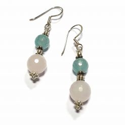 Sterling Silver Blue Chalcedony Beaded Indian Earrings Simplistic Earrings Silver Women 925 Pack Of 1 Pair Earring Ideal for Women - Jewelfort