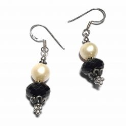Sterling Silver Black Onyx Beaded Indian Earrings Simplistic Earrings Silver Women 925 Pack Of 1 Pair Earring Ideal for Women - Jewelfort