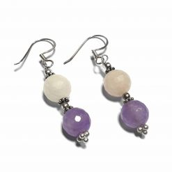 Sterling Silver Purple Amethyst Beaded Indian Earrings Simplistic Earrings Silver Women 925 Pack Of 1 Pair Earring Ideal for Women - Jewelfort