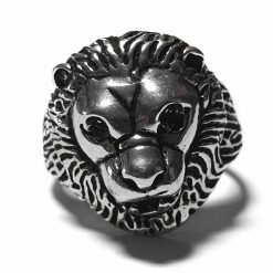 Sterling Silver Silver  Lion Ring Lion Rings Silver Women Lion Pack Of 1 Ring Ideal for Men - Jewelfort