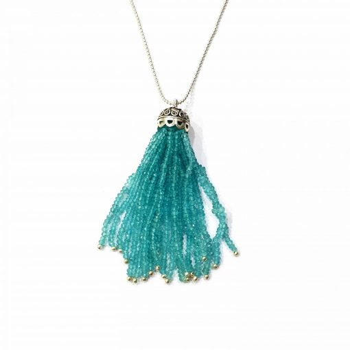 """Sterling Silver Blue Apetite 36"""" Inch Tussle Necklace with Ball Chain Necklace Everyday Necklaces Girls Necklaces Women Necklaces Womens Jewellery Pack Of 1 Necklace Ideal for Women"""