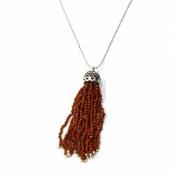 "Sterling Silver Brown Sunstone 36"" Inch Tussle Necklace with Ball Chain and Sunstone Necklace Everyday Necklaces Girls Necklaces Women Necklaces Womens Jewellery Pack Of 1 Necklace Ideal for Women"