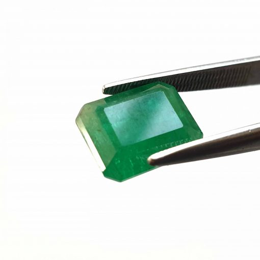 Natural Green Octogon Faceted Cut 4.85 ct Zambia Emerald No Treatment November Birthstone Precious Stone with Dimensions 11x9x6 MM