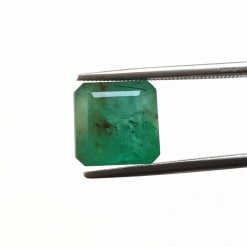 Natural Green Octogon Faceted Cut 5 ct Zambia Emerald No Treatment January Birthstone Precious Stone with Dimensions 10x10x7 MM