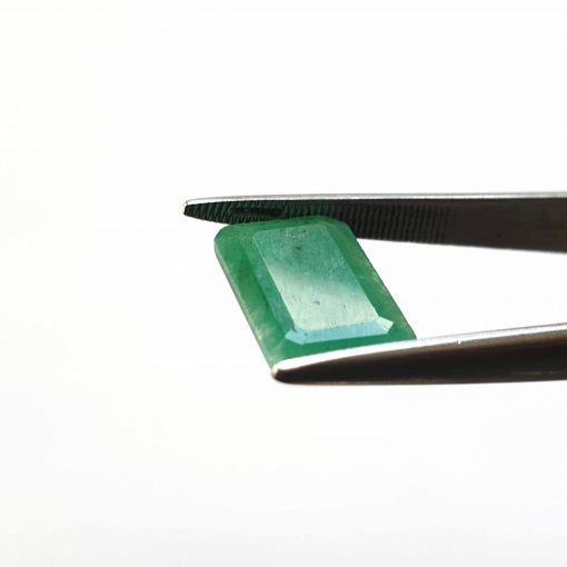 Natural Green Octogon Faceted Cut 3.7 ct Zambia Emerald No Treatment June Birthstone Precious Stone