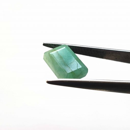 Natural Green Octogon Faceted Cut 5.5 ct Sakota Emerald No Treatment August Birthstone Precious Stone