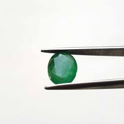 Natural Green Oval Faceted Cut 3.25 ct Zambia Emerald No Treatment January Birthstone Precious Stone with Dimensions 12x9x4.5 MM
