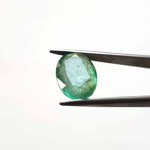 Natural Green Oval Faceted Cut 5.8 ct Zambia Emerald No Treatment July Birthstone Precious Stone with Dimensions 14x10x6.5 MM