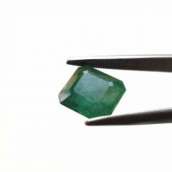 Natural Green Octogon Faceted Cut 3.45 ct Zambia Emerald No Treatment September Birthstone Precious Stone