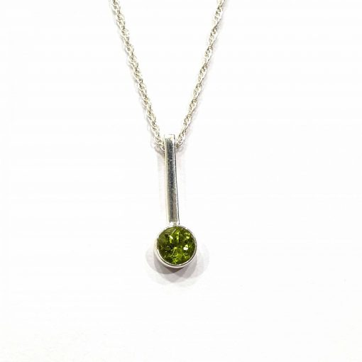 Sterling Silver Green Peridot 18 Inch Necklace with mystry Pendant and Original Peridot Stone Necklace Everyday Mystry Jewellery Stylish Necklace Necklace for Girls Jewellery for Girls Pack Of 1 Necklace Ideal for Women