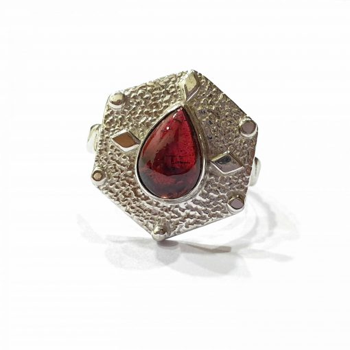 Sterling Silver Red Garnet Queens Crown Ring Everyday Silver Rings Rings Rings for Women jewellery for women Pack Of 1 Ring Ideal for Women