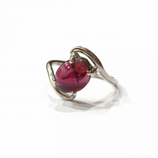 Sterling Silver Red Garnet Princess Tiara Ring Everyday Silver Rings Rings Rings for Women jewellery for women Pack Of 1 Ring Ideal for Women