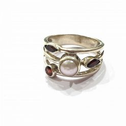 Sterling Silver Red Garnet Crown of the Queen Ring Everyday Silver Rings Rings Rings for Women jewellery for women Pack Of 1 Ring Ideal for Women