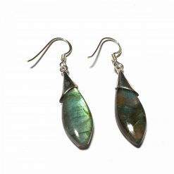 Sterling Silver Green Labradorite Modern Tie Dangle Earrings Everyday Earrings for Girls Earrings Jewellery for Girls Silver Jewellery Pack Of 1 Pair Earrings Ideal for Women