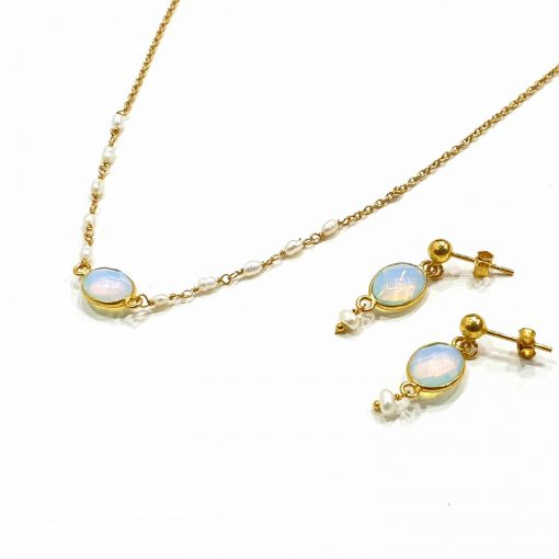Sterling Silver White Zircon Delicate Single Stone Classic Necklace Everyday Necklaces Silver Necklaces Necklace for Women Gold Necklaces Pack Of 1 Necklace and 1 Pair Earring Ideal for Women