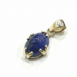 Sterling Silver Blue Tanzanite Simplistic Pendant Everyday Silver Pendants Pendants Necklace for Girls Gemstone Pendants Pack Of 1 Pendant Ideal for Women