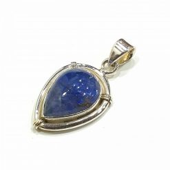 Sterling Silver Blue Tanzanite Royal Pendant Everyday Silver Pendants Pendants Necklace for Girls Gemstone Pendants Pack Of 1 Pendant Ideal for Women