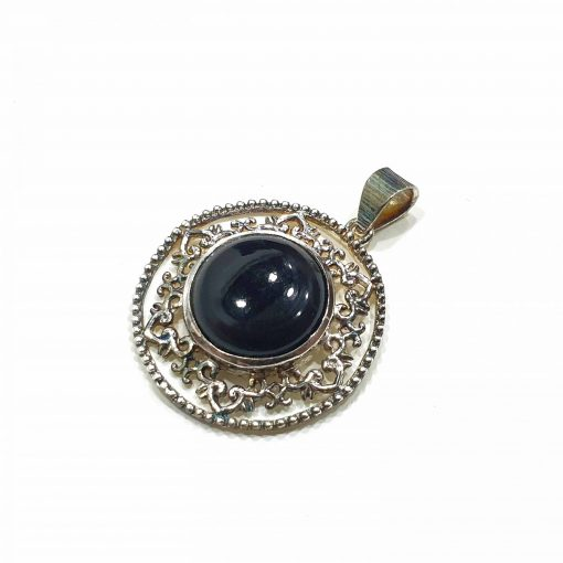 Sterling Silver Black Onyx Princess Pendant Everyday Silver Pendants Pendants Necklace for Girls Gemstone Pendants Pack Of 1 Pendant Ideal for Women