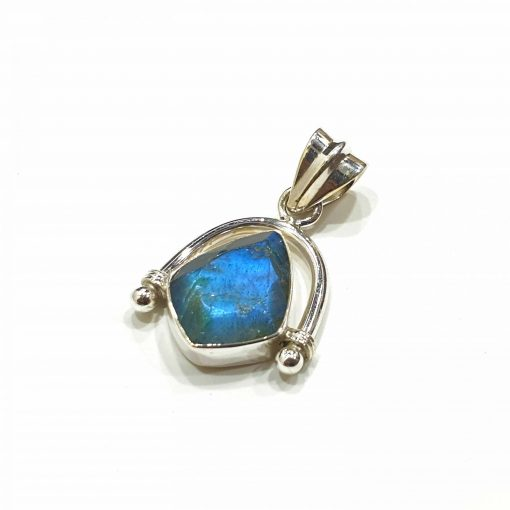 Sterling Silver Grey Labradorite Trident Pendant Everyday Silver Pendants Pendants Necklace for Girls Gemstone Pendants Pack Of 1 Pendant Ideal for Women