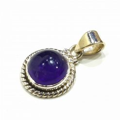 Sterling Silver Purple Amethyst Classic Pendant Everyday Silver Pendants Pendants Necklace for Girls Gemstone Pendants Pack Of 1 Pendant Ideal for Women