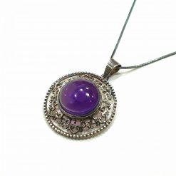 Sterling Silver Purple Amethyst Princess Pendant Everyday Silver Pendants Pendants Necklace for Girls Gemstone Pendants Pack Of 1 Pendant Ideal for Women