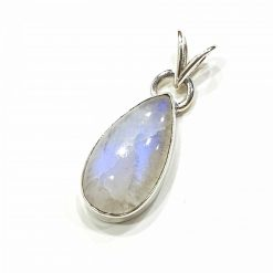 Sterling Silver White Moonstone Classic Pendant Everyday Silver Pendants Pendants Necklace for Girls Gemstone Pendants Pack Of 1 Pendant Ideal for Women