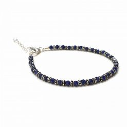 Sterling Silver Blue Sapphire Nazariye Bracelet Everyday Nazariya Bracelet Evil Eye Protection Bracelet for Girls Evil Eye Jewellery Pack Of 1 Bracelet Ideal for Women