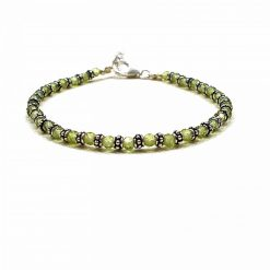 Sterling Silver Green Peridot Nazariye Bracelet Everyday Friendship Bracelet Jewellery for Girlfriend Jewellery for Girls Jewellery for Wife Pack Of 1 Bracelet Ideal for Women