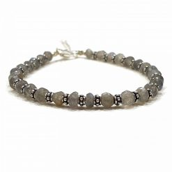 Sterling Silver Grey Labradorite Nazariye Bracelet Everyday Wish Bracelet Jewellery for Wife Jewellery for Girlfriend Jewellery for Daughter Pack Of 1 Bracelet Ideal for Women