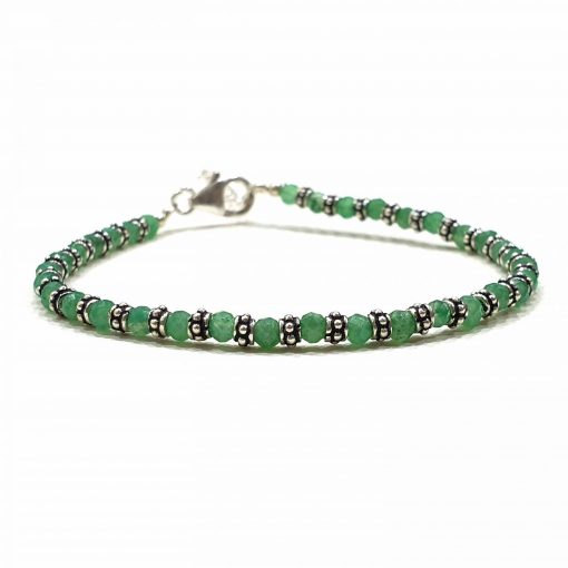 Sterling Silver Green Emerald Nazariye Bracelet Everyday Lucky Bracelet Nazariya Bracelet Jewellery Evil Eye Bracelet Pack Of 1 Bracelet Ideal for Women