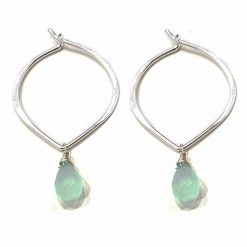 Sterling Silver Blue Chalcedony Ligero Earrings Everyday Earrings Silver Jewellery Gift Silver Earrings Silver Gifts Pack Of 1 Pair Earring Ideal for Women