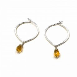 Sterling Silver Yellow Citrine Ligero Earrings Everyday Earrings Silver Jewellery Gift Silver Earrings Silver Gifts Pack Of 1 Pair Earring Ideal for Women