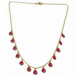 Sterling Silver Pink Zircon Light Weight Simplistic Gold Plated Necklace Everyday Necklace for Women Silver Necklace Gold Necklace Light Weight Necklace Pack Of 1 Necklace Ideal for Women