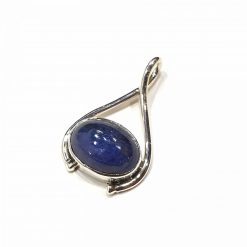 Sterling Silver Blue Tanzanite Classic Pendant Everyday Pendant Jewellery silver gifts Lucky Bracelet Pack Of 1 Pendant Ideal for Women