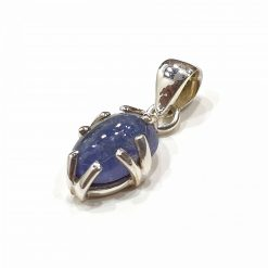 Sterling Silver Blue Tanzanite Classic Pendant Everyday Pendant Gemstone Pendants Silver Pendants Pendant for Chain Pack Of 1 Pendant Ideal for Women