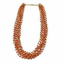 Sterling Silver Red Carnelian Multiline Layered Cluster Necklace Ethnic gifts jewellery gifts jewellery for women silver necklace Pack Of 1 Necklace Ideal for Women