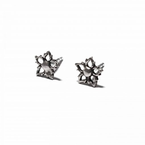 Sterling Silver Silver  Star Earrings Ethnic Silver Earrings Stud Earrings Simple Earrings Earrings for her Pack Of 1 Pair Earrings Ideal for Women::Girls