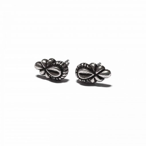 Sterling Silver Silver  Bloom Earrings Ethnic small earrings silver gifts gifts jewellery Pack Of 1 Pair Earrings Ideal for Women::Girls