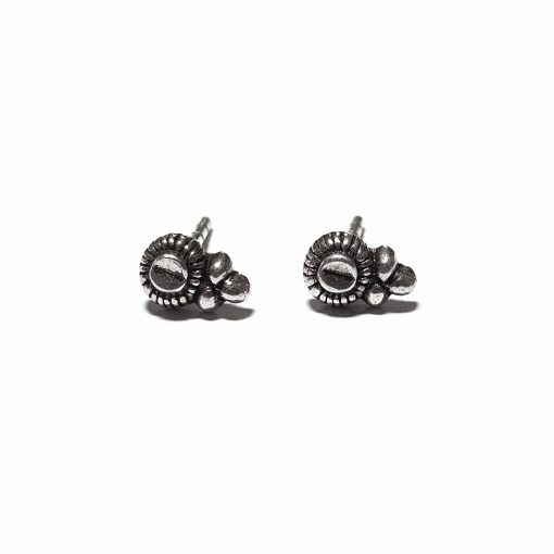 Sterling Silver Silver  Peace Earrings Ethnic Silver Earrings Stud Earrings Simple Earrings Earrings for her Pack Of 1 Pair Earrings Ideal for Women::Girls