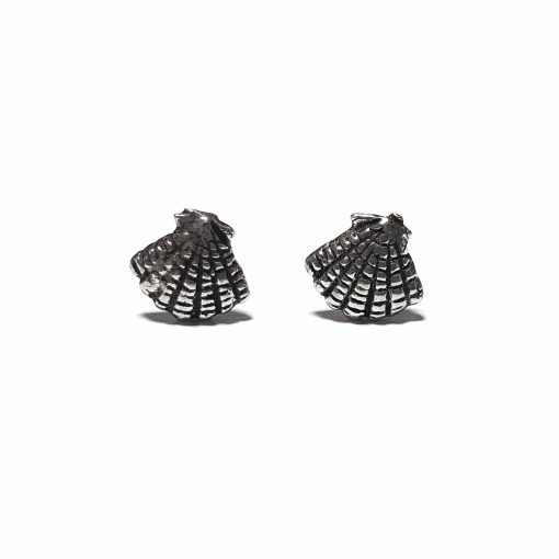 Sterling Silver Silver  Shell Earrings Ethnic small earrings silver gifts gifts jewellery Pack Of 1 Pair Earrings Ideal for Women::Girls