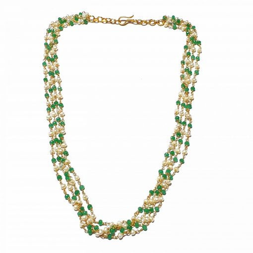 Sterling Silver Green Onyx Layering Necklace Contemporary Silver Necklace Gold Jewelry Silver Jewelry Gold Necklaces Pack Of 1 Necklace Ideal for Women::Girls