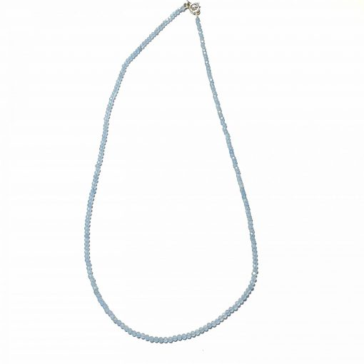 Sterling Silver Blue Chalcedony Beaded Necklace Ethnic Necklace Set crystal necklaces necklaces for women silver necklace for women Pack Of 19 Necklace and 1 Pair Earring Ideal for Women::Girls