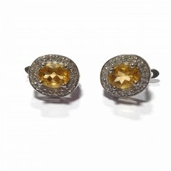 Sterling Silver Yellow Citrine Trishna Earrings Contemporary Silver Earrings Trishna Earring Yellow Earring Earrings for Women Pack Of 1 Pair Earrings Ideal for Women::Girls